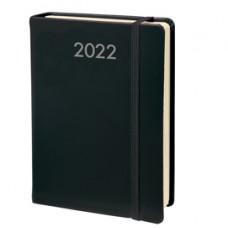 Agenda giornaliera Daily Pocket Prestige 2022 - copertina Habana - 8,5 x 13 cm - nero - Quo Vadis