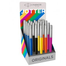 Expo 20 stilografiche M Jotter Orig. Plastic assor. (ne/ma/ar/gi/bl) Parker