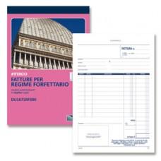 Blocco fatture per regime forfettario - 50/50 - copie autoric. - 21,5 x 14,8 cm - DU1671RF000 - Data Ufficio