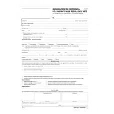 Dichiarazione conformitA' impianto - snap 5 copie autoric. - 31 x 21 cm - DU184110000 - Data Ufficio