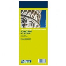 Blocco scontrino 2 sezioni - 100 copie numerate - giallo - 5,8 x 13 cm - DU160000030 - Data Ufficio