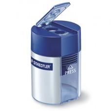 Temperamatite 2 fori con contenitore - blu - Staedtler