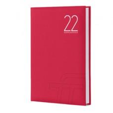 Agenda giornaliera Text 2022 - carta plastificata imbottita - 15 x 21 cm - rosso - InTempo