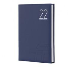 Agenda giornaliera Text 2022 - carta plastificata imbottita - 15 x 21 cm - blu - InTempo