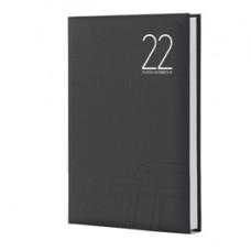 Agenda giornaliera Text 2022 - carta plastificata imbottita - 15 x 21 cm - nero - InTempo