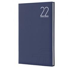 Agenda settimanale Text 2022 - carta plastificata imbottita - 17 x 24 cm - blu - InTempo