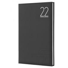 Agenda settimanale Text 2022 - carta plastificata imbottita - 17 x 24 cm - nero - InTempo