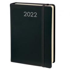 Agenda giornaliera Daily Prestige 2022 - copertina Habana - 13 x 21 cm - nero - Quo Vadis