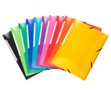 Cartelle 3L con elastici Iderama - A4 - 10 colori assortiti - Exacompta
