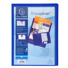 Cartella di presentazione Kreacover - in PP - 2 alette - blu - A4 - Exacompta