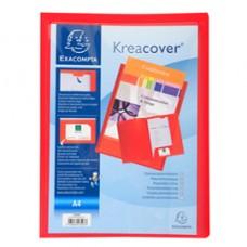 Cartella di presentazione Kreacover - in PP - 2 alette - rosso - A4 - Exacompta