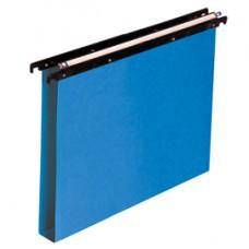 Cartella sospesa Cartesio PP - cassetto - PPL - interasse 39 cm - fondo U - 37x25 cm - blu - Bertesi