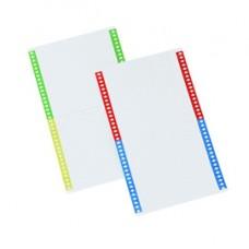 Cartellini per cartelle sospese - 140 mm - pack 10 fogli da 34 cartoncini