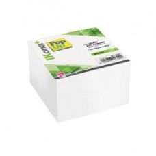 Foglietti Cubo - collato su un lato - bianco - 9,5 x 9,5 cm - 700 fogli - IKona+