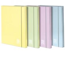 Cartella Pastel One Color - con elastico - 3 lembi - 26 x 35 cm - dorso 10 mm - colori assortiti - Blasetti