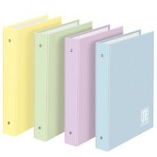 Raccoglitore One Color Pastel - A4 - 26 x 32 cm - dorso 4 cm - 4 anelli 30 mm - colori assortiti - Blasetti