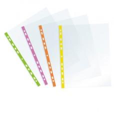 Buste forate - PPL - con banda verde neon - 22 x 30 cm - Favorit - conf. 25 pezzi