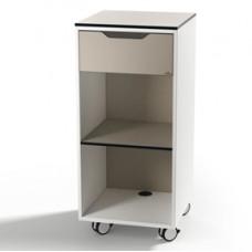Mobile quadro advanced con anta e due maniglie - basic toffee - 45x45x100cm - Durable