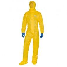 Tuta di protezione Deltachem - taglia L - giallo - Deltaplus