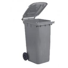 Bidone carrellato - 48x55x93 cm - 120 L - grigio - Mobil Plastic