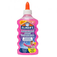 Colla glitterata liquida Slime - rosa - flacone 177 ml - Elmer's
