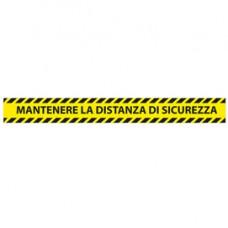 Adesivi da terra - 90 x 10 cm - ''Mantenere la distanza di sicurezza'' - Studio T - conf. 5 pezzi