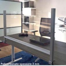Schermo protettivo da scrivania - con morsetto in alluminio - 60x82 cm -  Studio T