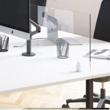 Schermo protettivo da scrivania Timy - 61x80 cm - con ganci per fissaggio - Alba