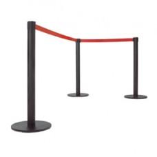 Colonnina segnapercorso Junior - nero - con nastro rosso 300 cm - Studio T