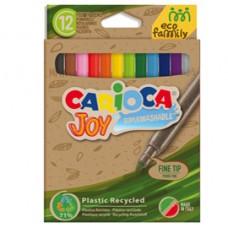 Pennarelli Joy Eco Family - lavabili - colori assortiti - Carioca - scatola 12 pezzi