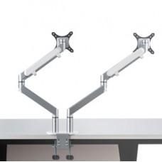 Braccio porta monitor Jamy - doppio - grigio metallizzato - Alba