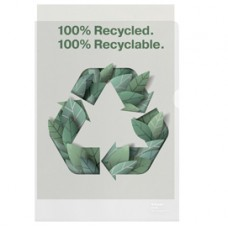 Buste a L De Luxe riciclate 100 - antiriflesso - f.to 22 x 30 cm - Esselte - conf. 100 pezzi