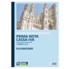 Blocco prima nota cassa/IVA - 50/50 copie autoricalcanti - 29,7 x 21,5 cm - DU1680C0000 - Data Ufficio