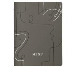 PortamenU' linea Linee - A4 - 24,6x31,6 cm - tortora - Stilcasa