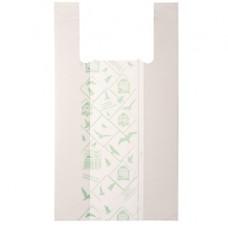Shoppers Midi - 28x50 cm - mater-bi - bianco - scatola 500 pezzi