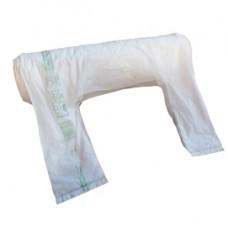 Shoppers Maxi - 30x60 cm - mater-bi - bianco - rotolo 100 pezzi