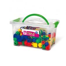 Perle in plastica - 2 cm - colori e forme assortiti - CWR - bauletto 140 pezzi