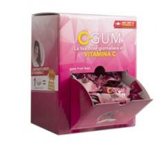 Chewing gum integratore Vitamina C - frutti rossi - C-Gum - box da 150 bustine da 1 gomma cad