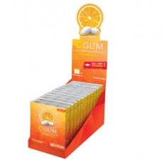 Chewing gum integratore Vitamina C - agrumi - C-Calm - box 12 blister da 9 gomme cad.