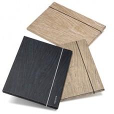 Cartella 3 lembi Colorosa Wood - 25x35x1 cm - colori assoriti - Ri.Plast