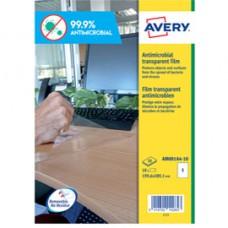 Adesivo antimicrobico - poliestere trasparente - 1 etichetta per foglio - Avery - conf. 10 fogli A4