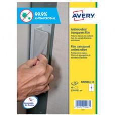 Adesivo antimicrobico - poliestere trasparente - 4 etichette per foglio - Avery - conf. 10 fogli A4