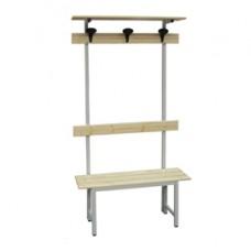 Panca in legno con alzata - a 3 posti - 150 x 40 x 185 cm - Fasma