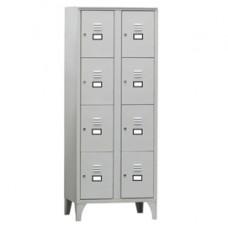 Armadio casellario in metallo - 8 vani - 70 x 50 x 180 cm - grigio - Fasma
