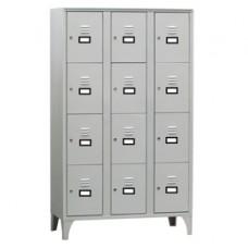 Armadio casellario in metallo - a 12 vani - 105 x 50 x 180 cm - grigio - Fasma