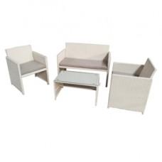 Salotto Valencia - bianco/grigio - Garden Friend - set 4 elementi