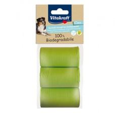 Sacchetti raccoglifeci 100 biodegradabili - Vitakraft - conf. 3 rotoli da 20 sacchetti