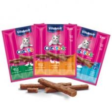 Cat-Stick mini per gatti - gusto salmone - 18 gr - Vitakraft - conf. 3 pezzi