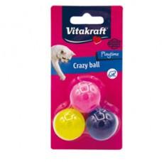 Crazy ball per gatti - Vitakraft - conf. 3 pezzi