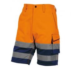 Bermuda da lavoro PHBE2 - alta visibilitA' - panostyle - tg. XXL - arancio fluo - Deltaplus